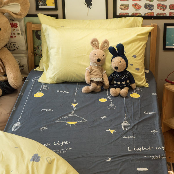 喬治的燈泡實驗室 D1 雙人床包三件組 100%精梳棉 台灣製