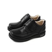 皮鞋 小男生鞋 魔鬼氈 黑色 童鞋 790050-08 no153