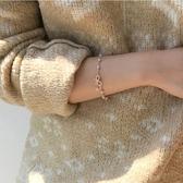現貨 蝴蝶結手鏈韓版簡約百搭森系珍珠手飾【極簡生活】