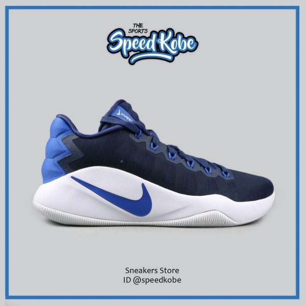 NIKE HYPERDUNK 2016 LOW EP 藍白 低筒 耐磨 XDR 籃球鞋 男 844364-444☆speedkobe☆