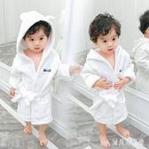 兒童浴袍 睡衣秋冬男童家居服浴袍女寶寶法蘭絨睡袍 BF17020『寶貝兒童裝』