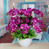 仿真花絹花塑料花客廳裝飾花盆栽花假花蝴蝶蘭花藝igo