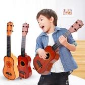 尤克里里初學者1-3-6周歲小吉他益智玩具 可彈奏玩具樂器玩具   居家物語