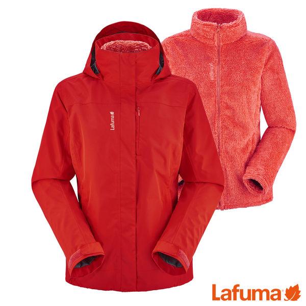 Lafuma 女 ACCESSCT二件式防水保暖刷毛外套-橘紅 【GO WILD】