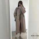 毛呢外套女中長款呢子大衣小個子加厚【時尚大衣櫥】