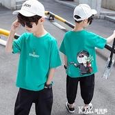 男童短袖t恤2021年夏季寬鬆9純棉韓版兒童男孩洋氣半袖潮流中大童