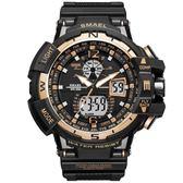 手錶男 電子錶雙顯冷光電子手錶防水多功能運動led手錶《印象精品》p158