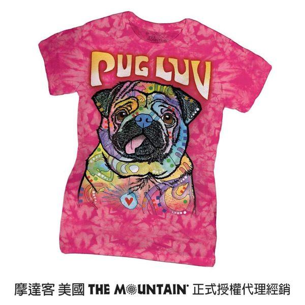 【摩達客】(預購)美國進口The Mountain 彩繪愛巴哥犬 短袖女版T恤精梳棉環保染(12516045046a)