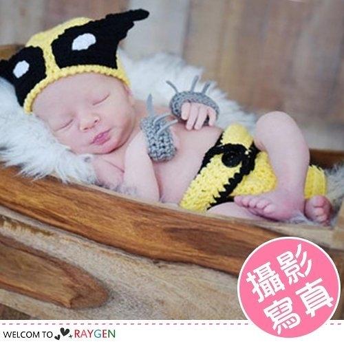 金鋼狼造型毛線針織套裝 寶寶攝影寫真