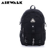 【橘子包包館】AIRWALK 安全專護 環線叉扣大容量登山筆電後背包 A615322611 黑配灰字