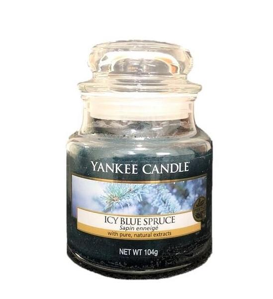 英國進口 Yankee 香氛蠟燭 Icy Blue Spruce 冰冷藍雲杉款 104g (玻璃瓶包裝)