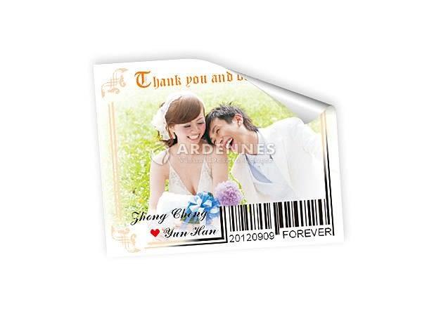 【ARDENNES】婚禮系列 佈置小物 濃情條碼貼紙 婚禮小卡 貼紙 BC-005