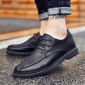 休閒皮鞋男韓版軟面皮鞋子夏季潮流青年英倫小皮鞋男士系帶豆豆鞋 QQ2831『MG大尺碼』