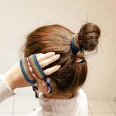 3-5條扎頭發女皮套頭繩簡約發圈發繩