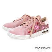 Tino Bellini 華麗珍珠繡花綁帶休閒鞋 _粉 C73412  2017SS  網拍限定款