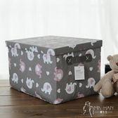 布藝大儲物整理盒加厚衣物收納盒 韓先生