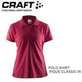 【速捷戶外】瑞典CRAFT 192467 女短袖排汗POLO衫(桃紅) POLO SHIRT PIQUE CLASSIC W