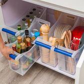 透明塑料廚房櫥柜廚具鍋具放鍋架子置物收納架雜物整理儲物收納盒【全館滿一元八五折】