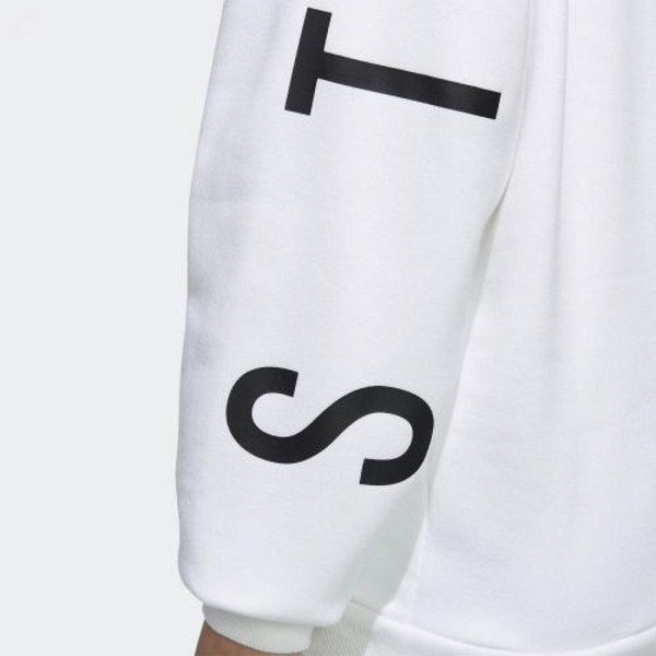 【現貨】ADIDAS S2S 女裝 長袖 休閒 刷毛 口袋 背後LOGO 白【運動世界】ED1514