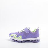 FILA  兒童氣墊慢跑鞋-紫/綠 3-J408S-966