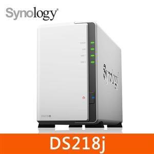 群暉 Synology DS218j 網路儲存伺服器 專為家庭用戶和個人雲端儲存