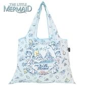 日本限定 迪士尼公主系列 小美人魚&比目魚 折疊收納式 購物袋 / 手提袋