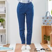 【Tiara Tiara】百貨同步新品aw  經典款彈性修身牛仔褲(深藍/淺藍)