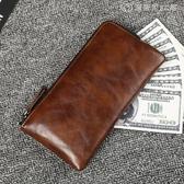 長款錢包 錢包男長款錢夾拉錬 手包大容量 復古手拿包多卡位男 【創時代3C館】