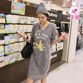 【愛天使孕婦裝】韓版(91446)純棉 手繪圖案V領哺乳衣 韓版孕婦裝
