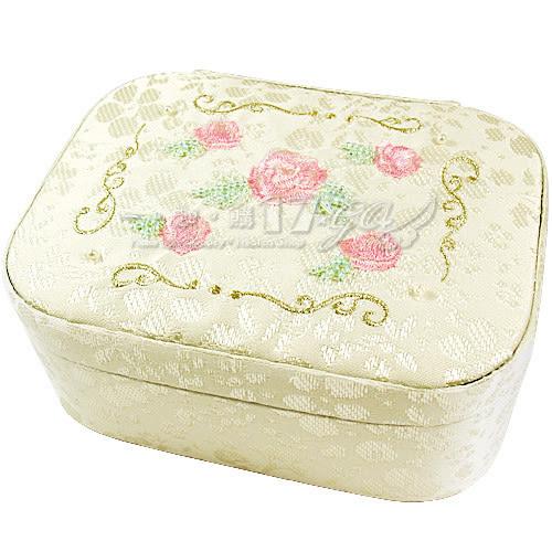 ☆17go☆ JILL STUART 玫瑰刺繡緹花珠寶盒