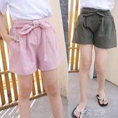 女童短褲夏季薄款運動休閒外穿兒童中大童純棉韓版女孩寬鬆熱褲子   米娜小鋪