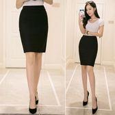 窄裙 後開叉包臀裙半身裙女高腰彈力工裝短裙OL一步裙黑色職業包裙 三角衣櫃