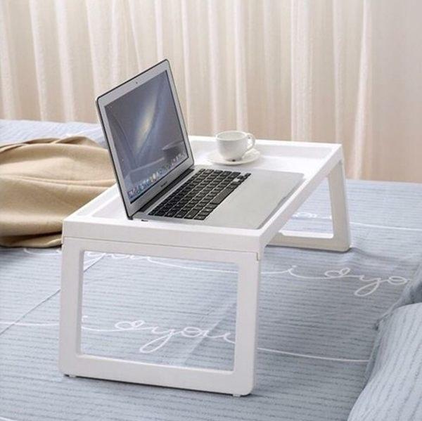 宜家用床上用筆記本支架多功能電腦桌可折疊學生宿舍懶人桌平板架 雙12鉅惠