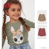 童裝女童兒童打底衫洋氣卡通長袖T恤 0870525 聖誕節免運