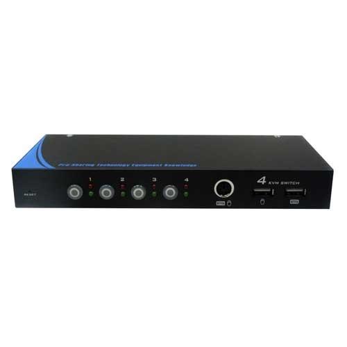 PSTEK 五角 CD-104C 可管理4台電腦或伺服器 LED指示燈 KVM 電腦切換器