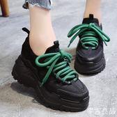 老爹鞋 女鞋港風老爹鞋女秋季新款百搭韓版超火增高厚底潮運動鞋