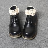 春秋新款學院風復古圓頭系帶平底馬丁單鞋洛麗塔原宿風英倫小皮鞋
