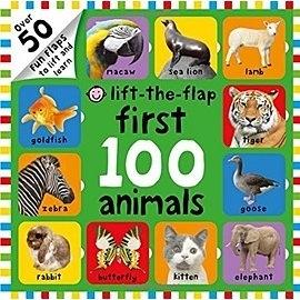 FIRST 100 ANIMALS /LIFT-THE-FLAP 《幼兒認知操作書》