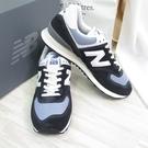 New Balance 復古運動鞋 D楦 ML574HF2 男款 深藍【iSport愛運動】