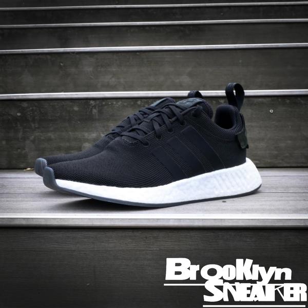 ADIDAS NMD R2 Black 黑白 慢跑鞋 男 (布魯克林)  CQ2402