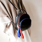 後背包-真皮-彩色拉鍊牛皮多背法女側背包73yi30【巴黎精品】