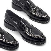 真皮皮鞋-不銹銅圈套腳重金屬油面時尚經典男休閒鞋73kv7【巴黎精品】
