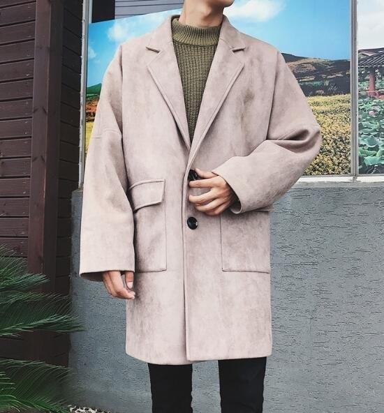 FINDSENSE Z1 韓國 時尚 潮 男 複古 翻領 大口袋 加厚 麂皮絨