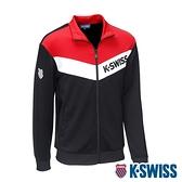 【超取】K-SWISS V Shape Panel Jacket運動外套-男-黑