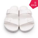 【台福製鞋】極輕量防水勃肯拖鞋-白/ 涼拖鞋 / 平底鞋 / 防潑水EVA / DH-1058