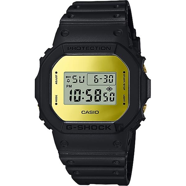 35周年 CASIO 卡西歐 G-SHOCK MIRROR DW-5600 經典王者手錶-鏡面金 DW-5600BBMB-1 / DW-5600BBMB-1DR