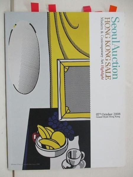 【書寶二手書T3/收藏_DIS】Seoul Auction HK SALE_Modern&…Art_2008/10