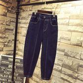 女童牛仔棉褲加絨加厚冬裝2018新款燈籠哈倫洋氣外穿兒童老爹褲子