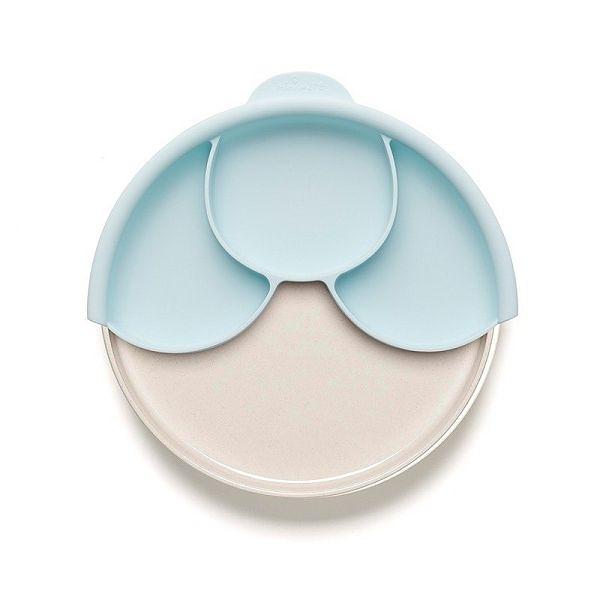 MINIWARE 天然寶貝碗 天然寶貝分隔餐盤組 牛奶薄荷