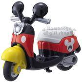 〔小禮堂〕迪士尼 米奇 TOMICA小汽車《黑紅.摩托車.DM-13》公仔.玩具.模型 4904810-80290